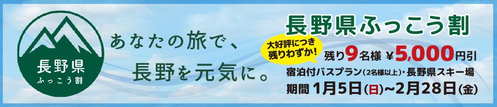 令和元年長野県ふっこう割 スキーツアー