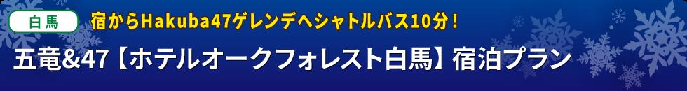 バスプラン限定 初すべりスペシャル 1泊 五竜&47【ホテルオークフォレスト白馬】宿泊プラン